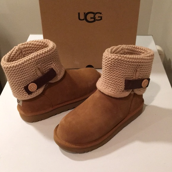 45427392de1 New Ugg Chestnut Shaina Suede & cable knit Sz 9 ❤️ NWT